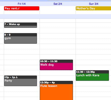 Novidade! Coloque cores nos eventos do Google Agenda