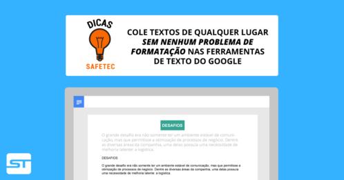 Google Docs: Use atalhos do teclado a seu favor e cole textos sem formatação | Dica SAFETEC