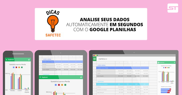 Google Planilhas: Deixe que o Planilhas analise seus dados automaticamente!