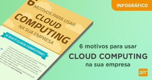 [Infográfico] 6 motivos para usar a cloud computing